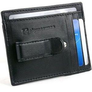 Alpine Swiss Leather Money Clip Wallet